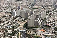 Iran , Tehran. elevated view of Tehran/ Teheran vue aerienne