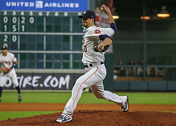 April 30, 2018 - Houston, TX, U.S. - HOUSTON, TX - APRIL 30:  Houston Astros starting pitcher Charlie Morton (50) prepares to throw a pitch during the baseball game between the New York Yankees and Houston Astros on April 30, 2018 at Minute Maid Park in Houston, Texas.  (Photo by Leslie Plaza Johnson/Icon Sportswire) (Credit Image: © Leslie Plaza Johnson/Icon SMI via ZUMA Press)