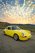 Photo illustration of a 1972 sports car in Boise, Idaho, Porsche 911 T RS, property released