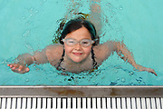 7/14/10 1Whitman<br /> ML0611<br /> Grace Whitman age 10 of Orange is swimming laps at Paugusset Club in Orange to raise money for diabetes and leukemia research. She plans to swim 1500 laps this summer. Photo by Mara Lavitt
