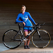 Scottish cyclist Neah Evans at the Velodrome at the Emirates Arena in Glasgow.  Picture Robert Perry for The Herald and  Evening Times 17th Jan 2017