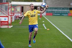 Michael Kelly of Bristol Rovers warms up - Mandatory by-line: Matt Bunn/JMP - 10/10/2020 - FOOTBALL - LNER Stadium - Lincoln, England - Lincoln City v Bristol Rovers - Sky Bet League One