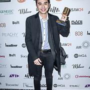 Breakthrough engineer of the year Winner Caesar Edmunds of The Music Producers Guild Awards at Grosvenor House, Park Lane, on 27th February 2020, London, UK.