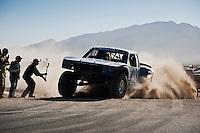 Andy McMillin Trophy Truck arriving at finish of 2012 San Felipe Baja 250, San Felipe, Baja California, Mexico