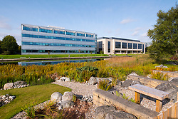 Agilent Technologies and HSBC office building at Edinburgh Park a modern business park at South Gyle in Edinburgh, Scotland, United Kingdom.