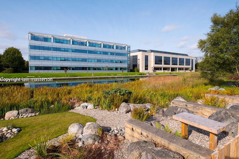 Agilent Technologies and HSBC office building at Edinburgh Park a modern business park at South Gyle in Edinburgh, Scotland, United Kingdom.