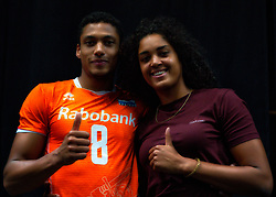 10-08-2019 NED: FIVB Tokyo Volleyball Qualification 2019 / Belgium - Netherlands, Rotterdam<br /> Third match pool B in hall Ahoy between Belgium vs. Netherlands (0-3) for one Olympic ticket / Fabian Plak #8 of Netherlands, Celeste Plak