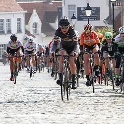 27-02-2016: Wielrennen: Omloop Nieuwsblad vrouwen: Gent<br />GENT (BEL) wielrennen<br />De opening van het Noord Europese wielerseizoen is traditioneel de opening van het wielerseizoen bij de mannen en vrouwen. Elisa Longo Borghini