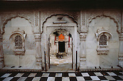 Hindu Rat Temple in Deshnoke, Rajasthan, India. This ornate Hindu temple was constructed by Maharaja Ganga Singh in the early 1900s as a tribute to the rat goddess, Karni Mata..