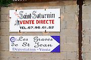 Les vins de St Saturnin. Cave Les Graves de St Jean. St Jean de Fos village. Languedoc. France. Europe.
