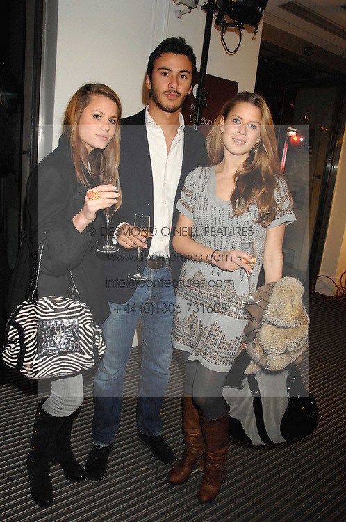 Left to right, IRENE FORTE, TANCREDI SIGNORELLI and LYDIA FORTE at a party to celebrate the launch of the new Fiat 500 car held at the London Eye, Westminster Bridge Road, London on 21st January 2008.<br /><br />NON EXCLUSIVE - WORLD RIGHTS (EMBARGOED FOR PUBLICATION IN UK MAGAZINES UNTIL 1 MONTH AFTER CREATE DATE AND TIME) www.donfeatures.com  +44 (0) 7092 235465