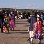Colorado, People,Native American Ute Mountain Ute's performing Bear Dance. Cortez, Colorado.