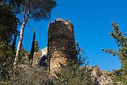 The Castle at Castelnou, Pyrenees Orientales, France