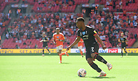 Lincoln City's Tayo Edun<br /> <br /> Photographer Chris Vaughan/CameraSport<br /> <br /> The EFL Sky Bet League One Play-Off Final - Blackpool v Lincoln City - Sunday 30th May 2021 - Wembley Stadium - London<br /> <br /> World Copyright © 2021 CameraSport. All rights reserved. 43 Linden Ave. Countesthorpe. Leicester. England. LE8 5PG - Tel: +44 (0) 116 277 4147 - admin@camerasport.com - www.camerasport.com