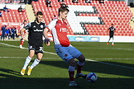 Fleetwood Town's defender Callum Connolly (4) in possession during the EFL Sky Bet League 1 match between Fleetwood Town and Accrington Stanley at the Highbury Stadium, Fleetwood, England on 27 February 2021.