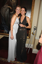 Left to right, KATIE REES and VICTORIA HALLAM-PEEL at the 2008 Berkeley Dress Show at the Royal Hospital Chelsea, London on 3rd April 2008.<br />