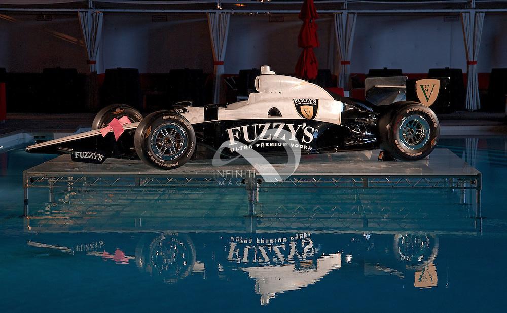 Fuzzy's Ultra Premium Vodka IZOD IndyCar series at Wet Republic in Las Vegas.<br /> Michael Hickey, Infiniti Images