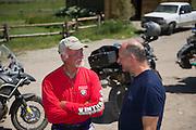 Jim Hyde and Pieter de Waal discuss the ride