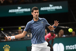 October 30, 2018 - Paris, France - NOVAK DJOKOVIC of Serbia during his second round match in the Rolex Paris Masters tennis tournament in Paris France. (Credit Image: © Christopher Levy/ZUMA Wire)