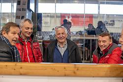 Eric Laenen, Boudewijn Schepers, Herman Tollenaere, Roger Van de Vijver, <br /> BWP Hengstenkeuring 3de phase<br /> Oudsbergen 2020<br /> © Hippo Foto - Dirk Caremans<br /> 12/03/2020