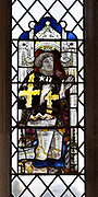 Medieval stained glass window, Holy Trinity church, Long Melford, Suffolk, England - Thomas Peyton (1418–84)