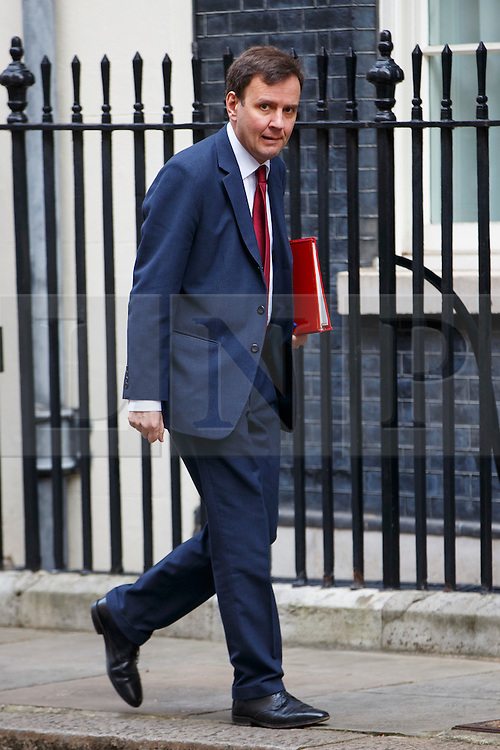 © Licensed to London News Pictures. 21/03/2016. London, UK. Chief Secretary to the Treasury GREG HANDS arriving at Downing Street in London on Monday, 21 March 2016. Photo credit: Tolga Akmen/LNP