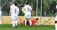 Fotball , 25. februar 2018 , Privatkamp , Kristiansund - Haugesund<br /> <br /> Sean McDermott, KBK slipper her inn mål