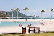 The Hilton Hawaiian Village Lagoon in Waikiki.