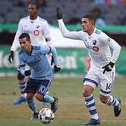 NEW YORK, NEW YORK - March 18:  Adrian Arregui #14 of Montreal Impact in action during the New York City FC Vs Montreal Impact regular season MLS game at Yankee Stadium on March 18, 2017 in New York City. (Photo by Tim Clayton/Corbis via Getty Images)