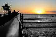 San Clemente Pier Sunset Fine Art