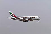 A6-EOM Emirates Airways Airbus A380-800 at Malpensa (MXP / LIMC), Milan, Italy