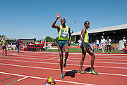 Ayanleh Souleman of Djibouti wins the Bowerman Mile with a time  of 3:47.32. The event is named for Oregon Track coach and Nike co-founder Bill Bowerman. The Prefontaine Classic, the longest-running international invitational meet in the United States, turns 40 this year.<br /> The 2014 elite competition held in Eugene, Oregon at the University of Oregon's historic Hayward Field is in it's 5th year hosting the IAAF's Diamond League event.