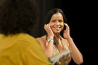 """LaTanya Richardson (left) and Victoria Rowell during a discussion in the Rich Theatre after a showing of Rowell's documentary, """"The Mentor,"""" based on her book, """"The Women Who Raised Me,"""" at the Woodruff Arts Center in Atlanta on Sunday, July 29, 2007."""