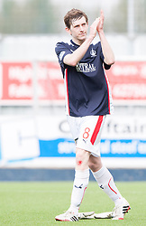 Falkirk's Blair Alston at the end.<br /> Falkirk 3 v 1 Alloa Athletic, Scottish Championship game played today at The Falkirk Stadium.<br /> © Michael Schofield.