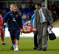 Photo: Jed Wee/Sportsbeat Images.<br /> Hartlepool United v Swindon Town. Coca Cola League 1. 15/09/2007.<br /> <br /> Swindon lose captain Hasney Aljofree to injury in the first half.