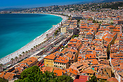 Promenade des Anglais from above Nice, France