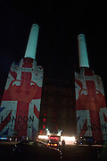 BATTERSEA POWER STATION, Celebration of 10 years with Kate Moss as the face of the make-up brand Rimmel.  Battersea Power Station. London. 15 September 2011<br /> <br /> <br />  , -DO NOT ARCHIVE-© Copyright Photograph by Dafydd Jones. 248 Clapham Rd. London SW9 0PZ. Tel 0207 820 0771. www.dafjones.com.