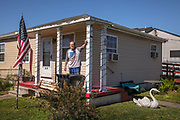 Man in his home on lower Ninth and arguably ground zero of Hurricane Katrina's destruction on 27th February 2020 in New Orleans, Louisiana, United States. Pre-Katrina, the Lower Ninth once registered the citys highest rate of African-American homeownership. Today, its pre-storm population of 18,000 has been reduced to 1,800.