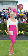 28/07/2014 Noelle Flemming from Claregalway who won the most appropriately Dressed lady Competition sponsored by Milliner Suzie Mahony on the opening night of the Galway Summer Racing Festival. Photo:Andrew Downes