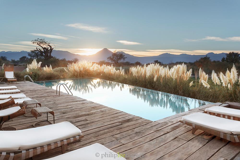 Swimming pool at Tierra Atacama Hotel in San Pedro de Atacama, Chile