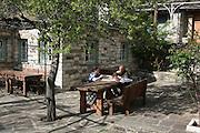 Greece, Epirus, Zagororia, Mikro Papigko villages, located in the Vikos-Aoos National Park, The village centre