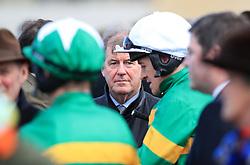 Owner J. P. McManus during St Patrick's Thursday of the 2018 Cheltenham Festival at Cheltenham Racecourse.