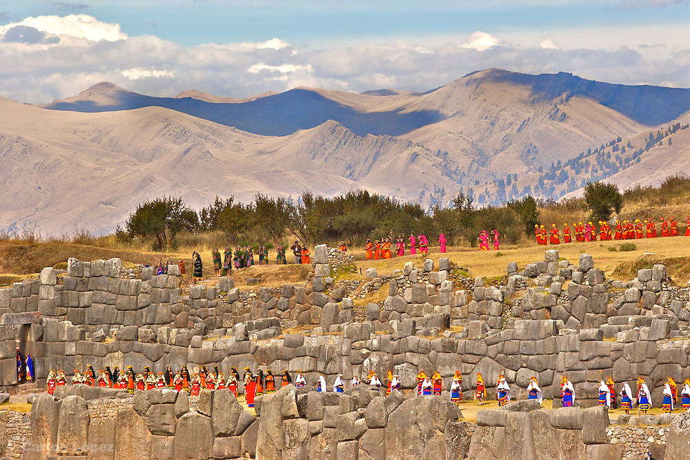 Ceremony of the Inty raymi, in Cusco, Peru