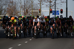 Mieke Kröger on the front at Ronde van Drenthe 2017. A 152 km road race on March 11th 2017, starting and finishing in Hoogeveen, Netherlands. (Photo by Sean Robinson/Velofocus)