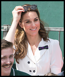 July 2, 2019 - London, London, United Kingdom - Image licensed to i-Images Picture Agency. 02/07/2019. London, United Kingdom. The Duchess of Cambridge watches the tennis on the second day of the Wimbledon Tennis Championships in London. (Credit Image: © Stephen Lock/i-Images via ZUMA Press)