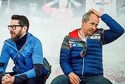 February 22, 2019 - Seefeld In Tirol, AUSTRIA - 190222 Espen Graff, head of communications, and Espen Bjervig, head of cross-country skiing at the Norwegian Ski Association, at a press event during the FIS Nordic World Ski Championships on February 22, 2019 in Seefeld in Tirol..Photo: Vegard Wivestad GrÂ¿tt / BILDBYRN / kod VG / 170287 (Credit Image: © Vegard Wivestad Gr¯Tt/Bildbyran via ZUMA Press)