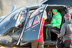 Robert Kranjec of Slovenia in a helicopter to Planica from Kranjska Gora prior to the Ski Flying Hill Individual Competition at Day 4 of FIS Ski Jumping World Cup Final 2016, on March 20, 2016 in Planica, Slovenia. Photo by Vid Ponikvar / Sportida