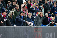 Crystal Palace supporter returning the ball during The FA Cup 3rd round match between Crystal Palace and Grimsby Town FC at Selhurst Park, London, England on 5 January 2019.