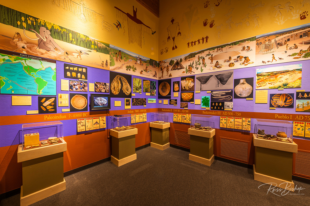 Interpretive display at the visitor center, Canyons of the Ancients National Monument, Colorado USA