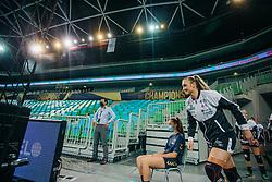 Player of Vipers Kristiansand seen before handball match between RK Krim Mercator (SLO) and Vipers Kristiansand (NOR), on September 12, 2020 in Arena Stožice, Ljubljana, Slovenia. Photo by Sinisa Kanizaj / Sportida